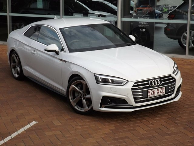 Used Audi A5 F5 MY18 Sport S Tronic Quattro Toowoomba, 2017 Audi A5 F5 MY18 Sport S Tronic Quattro 7 Speed Sports Automatic Dual Clutch Coupe
