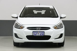 2017 Hyundai Accent RB4 MY17 Active White 6 Speed CVT Auto Sequential Hatchback.
