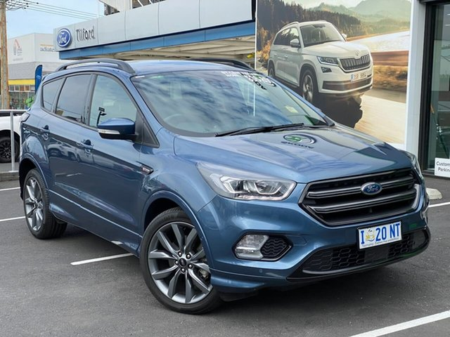 Used Ford Escape ZG 2019.25MY ST-Line AWD, 2019 Ford Escape ZG 2019.25MY ST-Line AWD Blue 6 Speed Sports Automatic Wagon