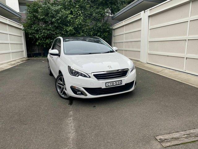 Used Peugeot 308 T9 Allure Premium, 2015 Peugeot 308 T9 Allure Premium White 6 Speed Sports Automatic Hatchback