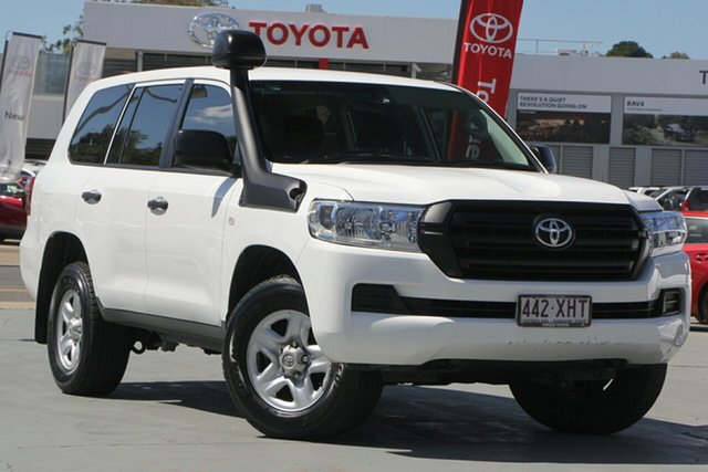 Used Toyota Landcruiser VDJ200R GX, 2017 Toyota Landcruiser VDJ200R GX Glacier White 6 Speed Sports Automatic Wagon