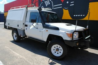 2010 Toyota Landcruiser VDJ79R MY10 Workmate French Vanilla 5 Speed Manual Cab Chassis.