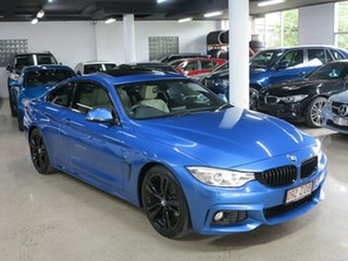 2014 BMW 4 Series F32 420i M Sport Estoril Blue 8 Speed Sports Automatic Coupe.