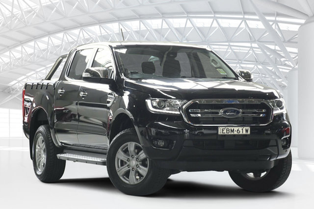 Used Ford Ranger PX MkIII MY19 XLT 2.0 (4x4), 2018 Ford Ranger PX MkIII MY19 XLT 2.0 (4x4) Absolute Black 10 Speed Automatic Double Cab Pickup