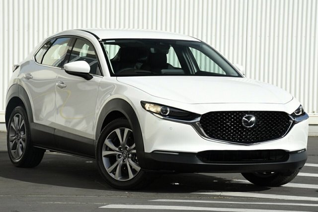 New Mazda CX-30 DM2WLA G25 SKYACTIV-Drive Touring, 2020 Mazda CX-30 DM2WLA G25 SKYACTIV-Drive Touring White Pearl 6 Speed Sports Automatic Wagon
