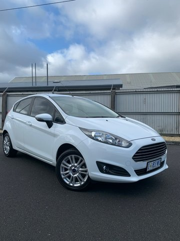 Used Ford Fiesta WZ Trend PwrShift, 2016 Ford Fiesta WZ Trend PwrShift White 6 Speed Sports Automatic Dual Clutch Hatchback