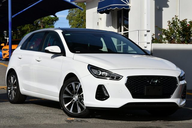 New Hyundai i30 PD2 MY20 Premium D-CT, 2020 Hyundai i30 PD2 MY20 Premium D-CT Polar White 7 Speed Sports Automatic Dual Clutch Hatchback