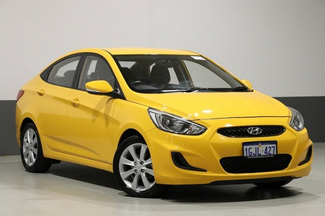 Used Hyundai Accent RB4 MY17 Active, 2017 Hyundai Accent RB4 MY17 Active Yellow 6 Speed CVT Auto Sequential Sedan