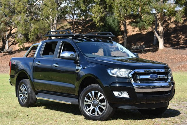 Used Ford Ranger PX MkII XLT Double Cab, 2017 Ford Ranger PX MkII XLT Double Cab Black 6 Speed Sports Automatic Utility