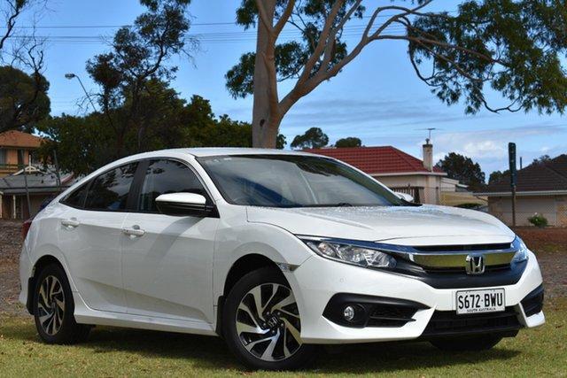 Used Honda Civic 10th Gen MY18 VTi-S, 2018 Honda Civic 10th Gen MY18 VTi-S White 1 Speed Constant Variable Sedan