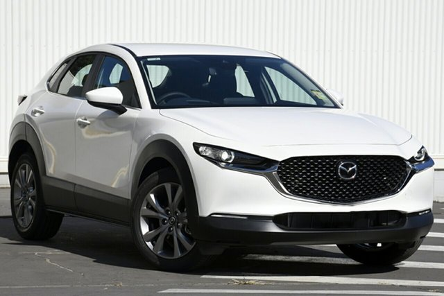 New Mazda CX-30 DM2W7A G20 SKYACTIV-Drive Evolve, 2020 Mazda CX-30 DM2W7A G20 SKYACTIV-Drive Evolve Snowflake White 6 Speed Sports Automatic Wagon