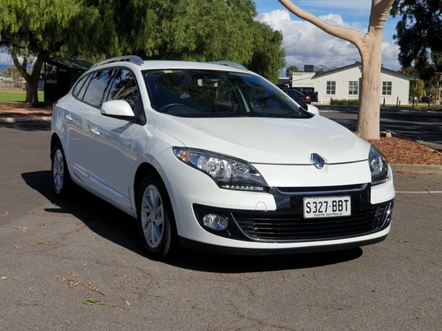 Used Renault Megane III K95 MY13 Dynamique Sportwagon, 2013 Renault Megane III K95 MY13 Dynamique Sportwagon White 6 Speed Constant Variable Wagon