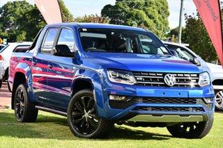 2020 Volkswagen Amarok 2H MY20 TDI580 4MOTION Perm Highline Black Blue 8 Speed Automatic Utility.