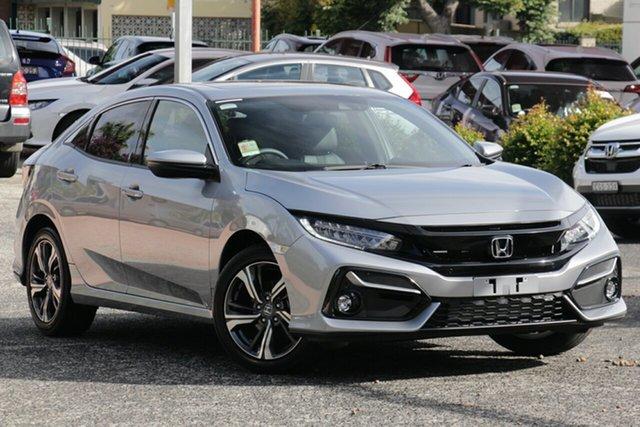 New Honda Civic 10th Gen MY20 VTi-LX, 2019 Honda Civic 10th Gen MY20 VTi-LX Lunar Silver 1 Speed Constant Variable Hatchback