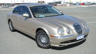 2003 Jaguar S-Type X202 Gold 6 Speed Automatic Sedan.