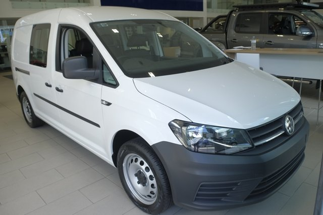 Demo Volkswagen Caddy 2KN MY19 TSI220 Crewvan Maxi DSG, 2019 Volkswagen Caddy 2KN MY19 TSI220 Crewvan Maxi DSG Candy White 7 Speed