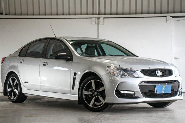 Used Holden Commodore VF II MY16 SV6 Black, 2016 Holden Commodore VF II MY16 SV6 Black Silver 6 Speed Sports Automatic Sedan