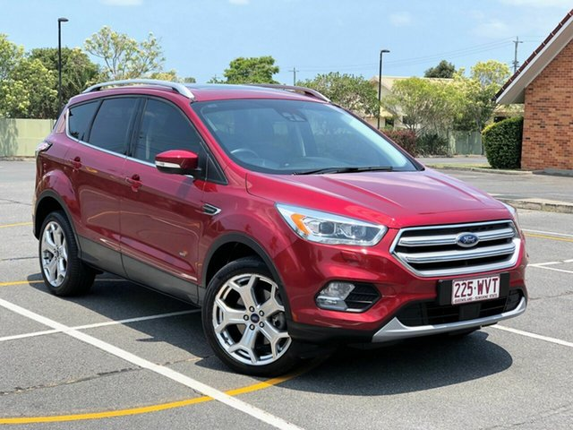 Used Ford Escape ZG Titanium PwrShift AWD, 2016 Ford Escape ZG Titanium PwrShift AWD Red 6 Speed Sports Automatic Dual Clutch Wagon