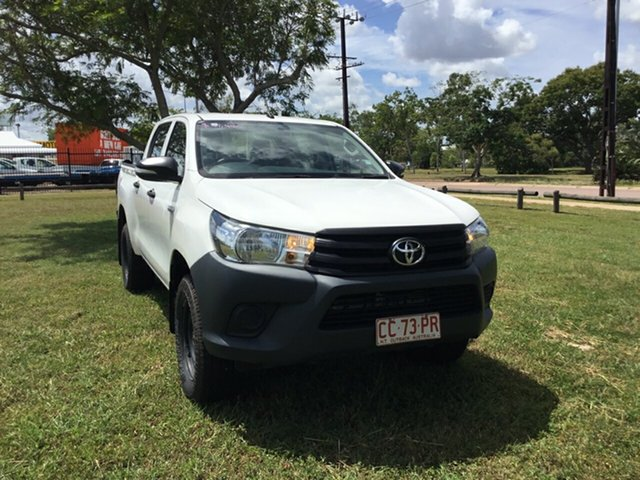 Used Toyota Hilux GUN125R Workmate (4x4), 2016 Toyota Hilux GUN125R Workmate (4x4) White 6 Speed Manual Dual Cab Utility