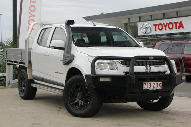 Used Holden Colorado RG MY14 LX Crew Cab 4x2, 2014 Holden Colorado RG MY14 LX Crew Cab 4x2 White 6 Speed Sports Automatic Cab Chassis