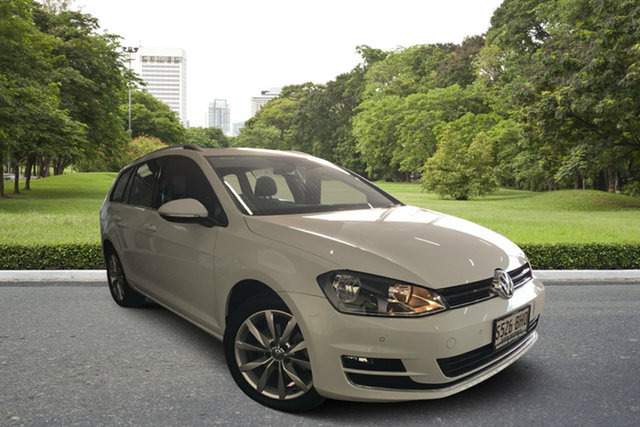 Used Volkswagen Golf VII MY15 103TSI DSG Highline, 2015 Volkswagen Golf VII MY15 103TSI DSG Highline White 7 Speed Sports Automatic Dual Clutch Wagon