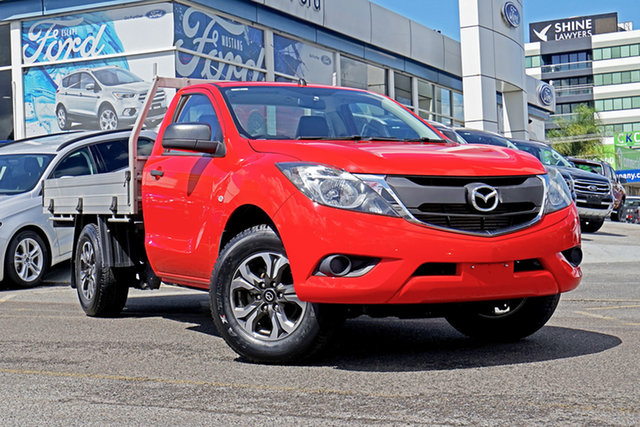 Used Mazda BT-50 UR0YD1 XT 4x2, 2015 Mazda BT-50 UR0YD1 XT 4x2 Red 6 Speed Manual Cab Chassis