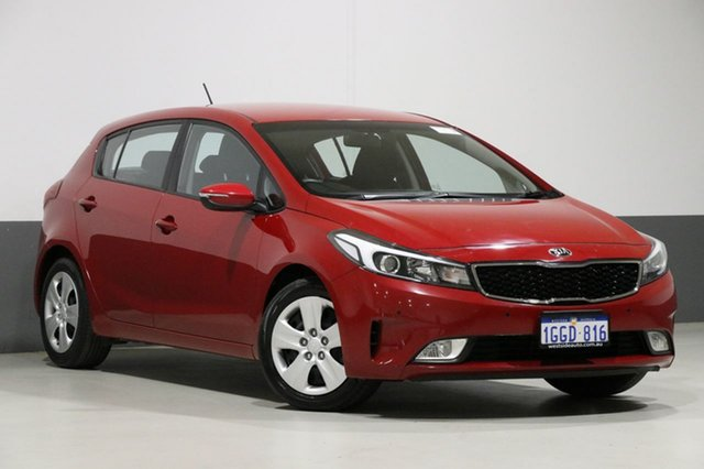 Used Kia Cerato YD MY17 S, 2017 Kia Cerato YD MY17 S Red 6 Speed Auto Seq Sportshift Hatchback