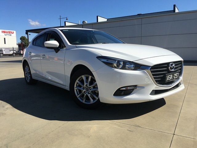 Used Mazda 3 BN MY18 Maxx Sport, 2018 Mazda 3 BN MY18 Maxx Sport Snow White Pearl 6 Speed Automatic Hatchback