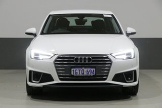 2019 Audi A4 8W MY19 35 TFSI S Tronic Sport Ibis White 7 Speed Auto Dual Clutch Sedan.