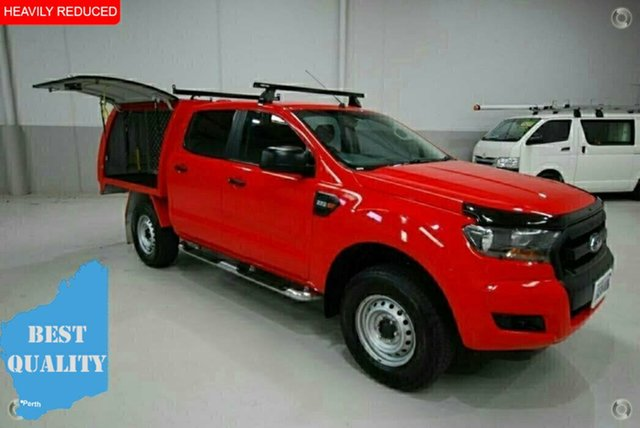 Used Ford Ranger PX MkII XL Double Cab 4x2 Hi-Rider, 2016 Ford Ranger PX MkII XL Double Cab 4x2 Hi-Rider Red 6 Speed Sports Automatic Cab Chassis