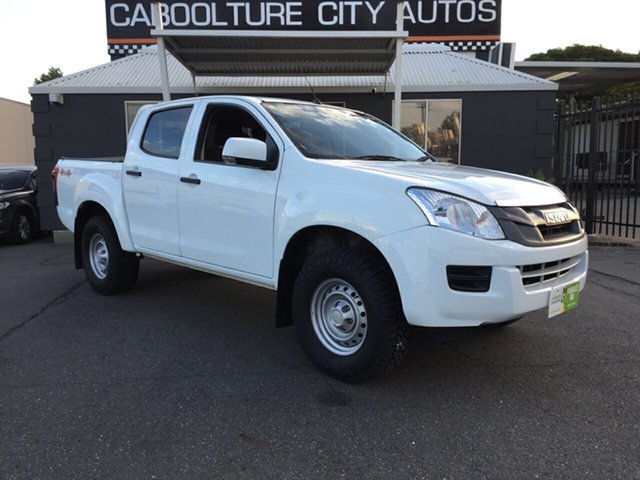 Used Isuzu D-MAX TF MY15 SX (4x4), 2015 Isuzu D-MAX TF MY15 SX (4x4) White 5 Speed Automatic Crew Cab Utility