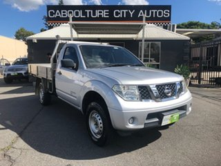2011 Nissan Navara D40 MY11 RX (4x4) Silver 6 Speed Manual Cab Chassis.