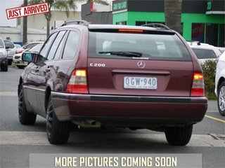 1996 Mercedes-Benz C-Class W202 C200 Elegance Red 5 Speed Automatic Wagon.