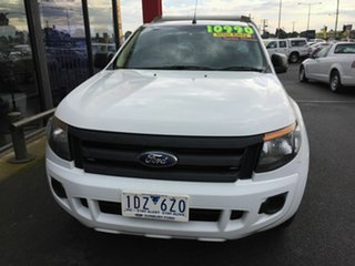 2015 Ford Ranger PX XL 2.2 (4x2) White 6 Speed Manual Cab Chassis.