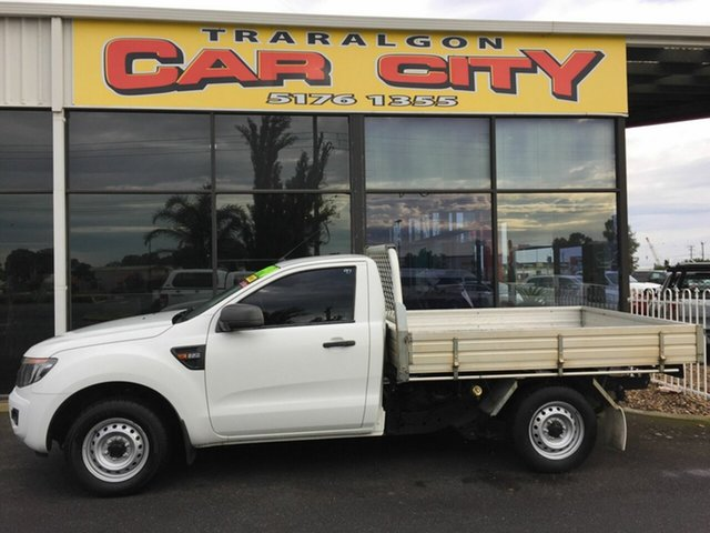 Used Ford Ranger PX XL 2.2 (4x2), 2015 Ford Ranger PX XL 2.2 (4x2) White 6 Speed Manual Cab Chassis