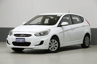 2017 Hyundai Accent RB4 MY17 Active White 6 Speed CVT Auto Sequential Hatchback.