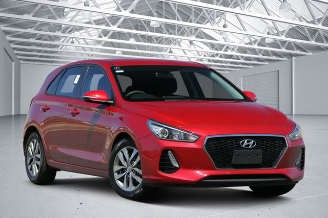 Used Hyundai i30 PD Active, 2017 Hyundai i30 PD Active Fiery Red 6 Speed Auto Sequential Hatchback