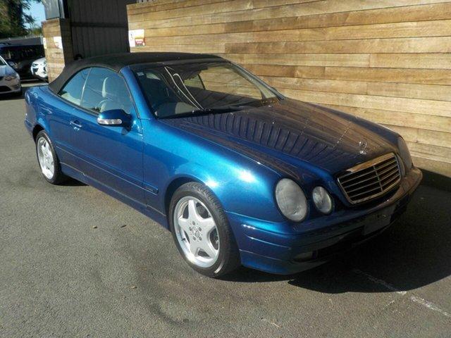 Used Mercedes-Benz CLK-Class A208 CLK320 Elegance, 2002 Mercedes-Benz CLK-Class A208 CLK320 Elegance Blue 5 Speed Automatic Cabriolet