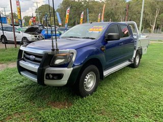 2012 Ford Ranger PX XL Double Cab Blue 6 Speed Sports Automatic Cab Chassis.