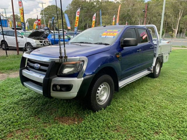 Used Ford Ranger PX XL Double Cab, 2012 Ford Ranger PX XL Double Cab Blue 6 Speed Sports Automatic Cab Chassis