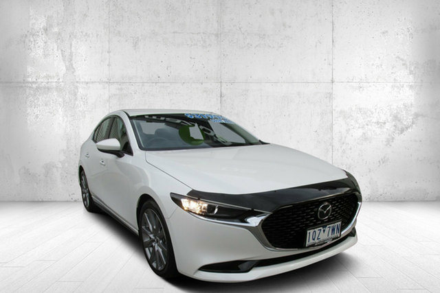 Used Mazda 3 BP2S7A G20 SKYACTIV-Drive Touring, 2019 Mazda 3 G20 Touring G20 SKYACTIV-Drive Touring White 6 Speed Automatic Sedan