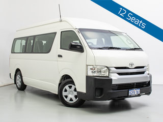 2014 Toyota HiAce KDH223R MY14 Commuter White Bus.