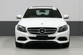 2018 Mercedes-Benz C-Class W205 808MY C200 9G-Tronic White 9 Speed Sports Automatic Sedan.