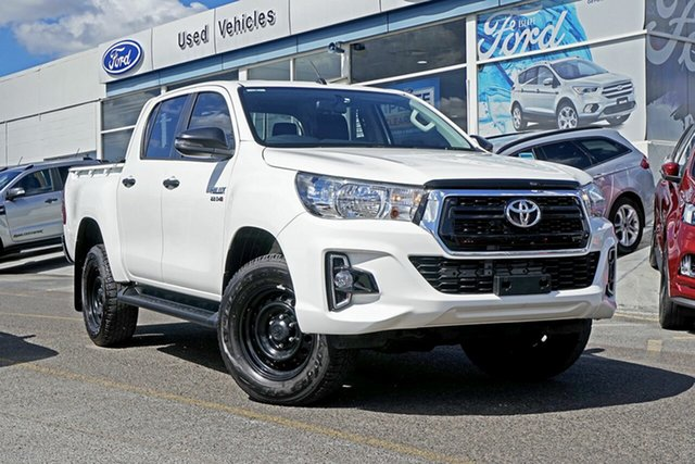 Used Toyota Hilux GUN136R SR Double Cab 4x2 Hi-Rider, 2019 Toyota Hilux GUN136R SR Double Cab 4x2 Hi-Rider White 6 Speed Sports Automatic Utility
