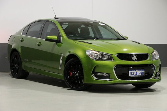 Used Holden Commodore VF II SS-V Redline, 2016 Holden Commodore VF II SS-V Redline Green 6 Speed Automatic Sedan