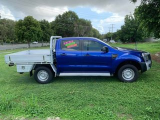 2012 Ford Ranger PX XL Double Cab Blue 6 Speed Sports Automatic Cab Chassis