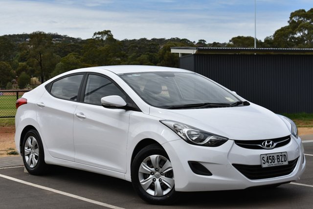 Used Hyundai Elantra MD3 Active, 2013 Hyundai Elantra MD3 Active White 6 Speed Sports Automatic Sedan