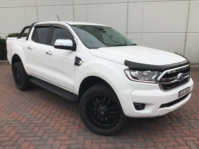Demo Ford Ranger PX MkIII 2019.75MY XLT Pick-up Double Cab, 2019 Ford Ranger PX MkIII 2019.75MY XLT Pick-up Double Cab Arctic White 10 Speed Sports Automatic