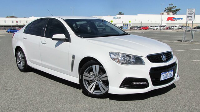 Used Holden Commodore VF MY15 SV6, 2014 Holden Commodore VF MY15 SV6 White 6 Speed Sports Automatic Sedan