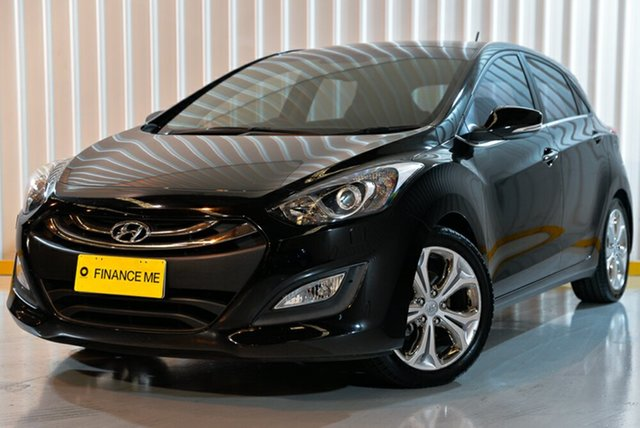 Used Hyundai i30 GD Premium, 2013 Hyundai i30 GD Premium Black 6 Speed Sports Automatic Hatchback